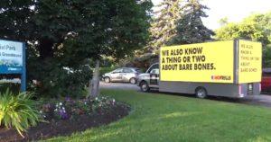 Simple billboard moving truck