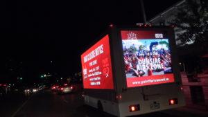 LED Mobile billboard advertising trucks in Canada