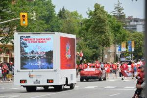 Mobile billboard advertising trucks in Canada