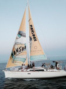Sailboat ads for Monsoon beverage