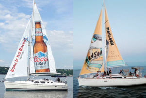 Sailboat ad for Monsoon beverage and Coors Light CANADA TORONTO