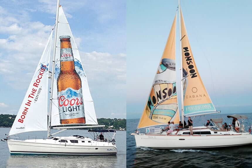 Sailboat ad for Monsoon beverage and Coors Light CANADA TORONTO ext