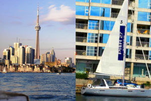 Sailboat ad for Pier CANADA TORONTO