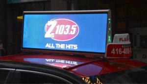 Digital Taxi Top – Z103 Advertising in CA