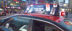 Wild On Media Enters Taxi Top Market with Canada's First Digital Taxi Top